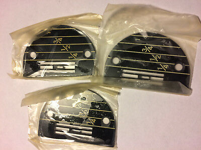 (3) NOS 149233 throat plates for SINGER sewing machine