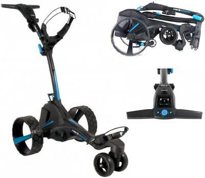 MGI 'Zip Navigator' Motorised Golf Buggy - 36 Hole Lithium Battery (Black/Blue)