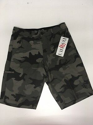 2adff94cbe NWT Da Hui Hybrid Collection Men's Olive Camo for Surf & Turf Board Shorts  Sz 28