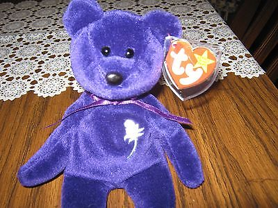 Ty Beanie Baby ~ PRINCESS Diana Bear from 1997 Retired in Mint Condition