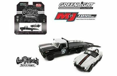 GREENLIGHT GAS MONKEY GARAGE 1970 FORD F-350 & 1965 SHELBY COBRA 1/64 Scale Car