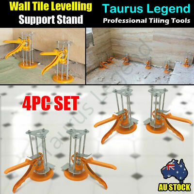 4PC Wall Tile Leveling System Tiling Height Alignment Tool Support Stand Holder