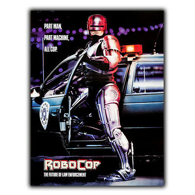 METAL SIGN WALL PLAQUE ROBOCOP Movie Film at poster man cave 80's cinema room