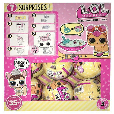 L.O.L. SURPRISE! SERIES 3 PET ANIMALS - Full Case Box of 18 Balls AUTHENTIC 2017