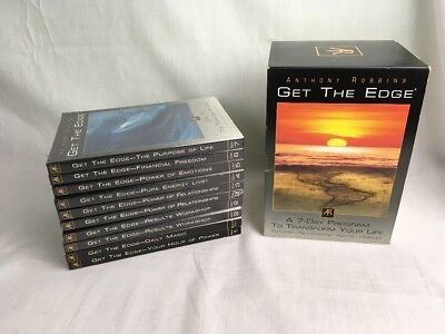 Get the Edge Anthony Robbins 10 CD, 7 Day Self Help Transformation Part Sealed