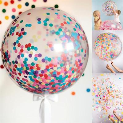 """2//1x36/"""" CONFETTI FILLED BALLOONS  Large Helium Quality Party Wedding Decorations"""