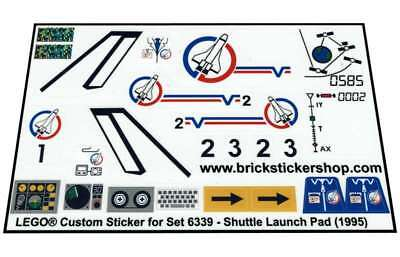 Lego® Custom Pre-Cut Transparant Sticker for Town set 6339 - Shuttle Launch Pad