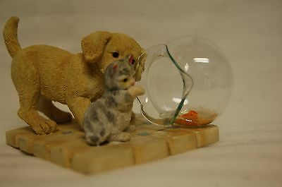 """ENESCO Puppy and Kitten """"PARTNERS IN CRIME"""" Collectible"""