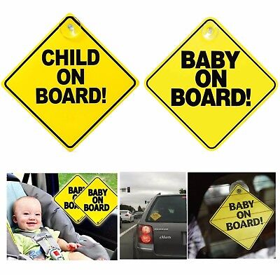 Baby On Board Child On Board Car Sign Sticker Window Badge Baby In Car Girl Boy