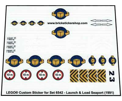 Lego® Custom Sticker for Classic Town Harbor 6542 - Launch & Load Seaport (1991)