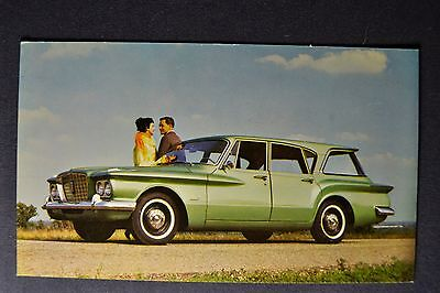 1960 Plymouth Valiant V-100 Station Wagon Postcard Brochure Excellent Original