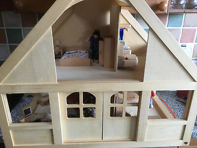 Early Learning Centre (ELC) My Little Home Wooden Dolls House, Furniture U0026  Dolls