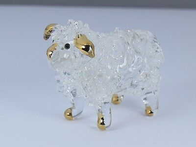 Sheep Farm Hand Blown Glass Figurine Animal Christmas Xmas Gift New Year Gift
