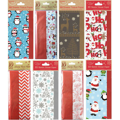 Christmas Tissue Paper Sheets Acid Free 50x66cm Large Luxury Gift Wrapping Xmas