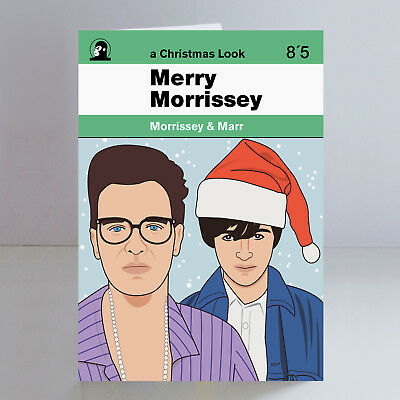 Morrissey & Marr Ltd Edition A5 Christmas Card The Smiths Indie Johnny Marr