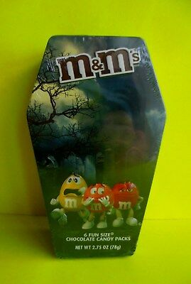 M&Ms M&M Happy Halloween 2017 Blech Box Red Yellow Orange Candy Ovp Neu