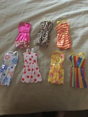2 - 7 Packs Of  Barbie Doll Clothes Party Dresses