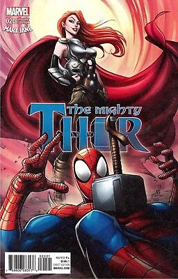 MIGHTY THOR #20 BROWN MARY JANE VARIANT Marvel Comics NM 2017
