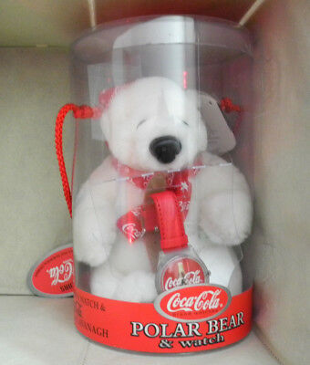 1999 Coca Cola Polar Bear And Watch Cavanaugh Limited Edition Watch Works! New!
