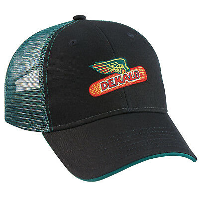 DEKALB SEED *BLACK & GREEN MESH BACK* Logo CAP HAT *BRAND NEW* DS54