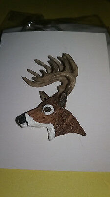 WHOLESALE LOT OF 6 DEER Head Single Posted Pin / Tie Tack