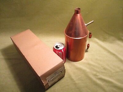 m LARGE COPPER STEAM GENERATOR 1500ml WITH WATER GAUGE, VINTAGE PHYSICS NOS