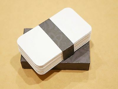 """Blank Business Cards rounded corners 100 lb 2"""" x 3.5"""" Escort Wedding Place cards"""