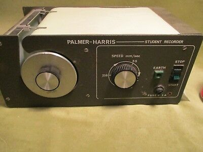 m STUDENT CHART RECORDER, VARIABLE SPEED, WORKING BY PALMER HARRIS