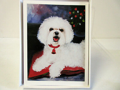 Bichon Frise Boxed Note Card Set 6 Greeting Cards w/ Envelopes By Ruth Maystead
