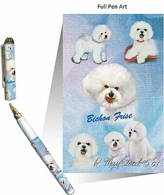 New Bichon Frise Dog Designer Pen in Gift Box by Ruth Maystead