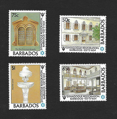 Barbados 710 - 713 VF MNH Set of 4 Synagogue