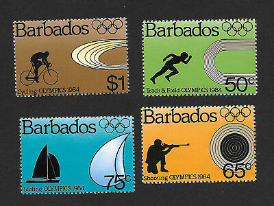 Barbados 623 - 626 VF MNH Set of 4 Olympics Sports