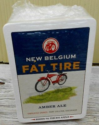 New Belgium Brewing Co Fat Tire Amber Ale Pack Of 100 Bar Coasters New Sealed