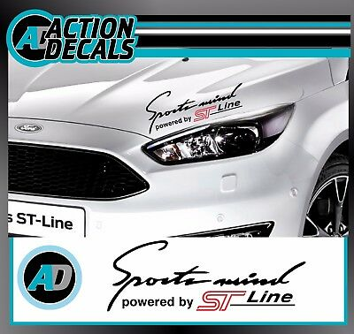 'Sports Mind' powered by~*ST Line *~ Body Panel sticker decal for Ford