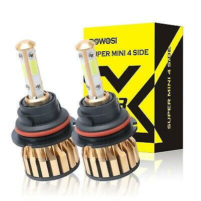 Car LED Headlights 9004 HB1 620W 744000LM White 4-Side Dual Beam Bulbs 6000K Kit