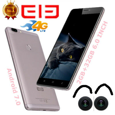 "6.0"" 3*cam Elephone C1 Max 2SIM 4Core 32GB 13MP 4G Android7.0 Téléphone Mobile"