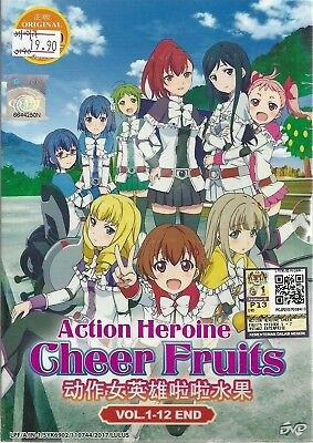 Action Heroine Cheer Fruits - Complete Anime Tv Series Dvd Box Set (1-12 Epis)
