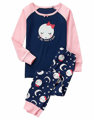 NWT Gymboree Girls Gymmies To the moon and back pajama set 5,8