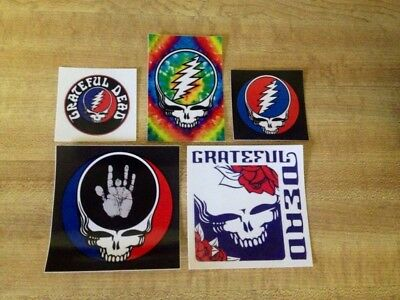5 Grateful Dead Steal Your Face Stickers