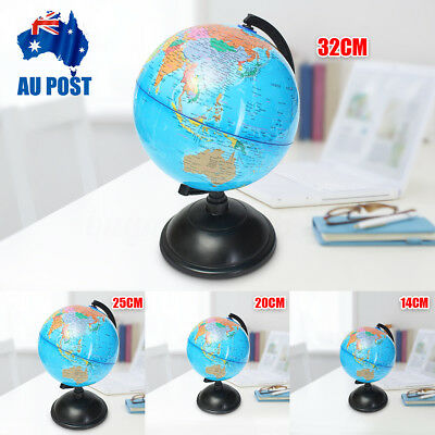 14/20/25/32cm Rotating World Earth Globe Atlas Map Geography Education Toy Gift
