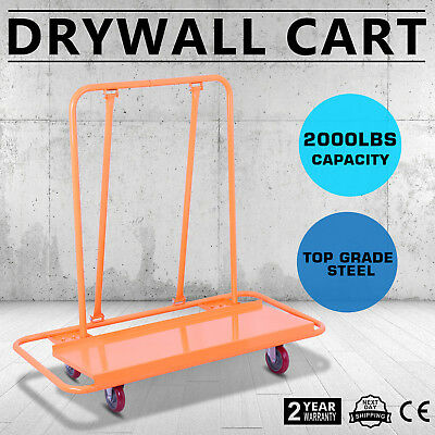 Drywall Dolly Heavy Duty Sheetrock Panel Cart Trolley Plywood Truck 2000LBS