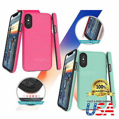 For Apple iPhone X Case Protective Shockproof Hybrid Hard Back TPU Bumper Cover