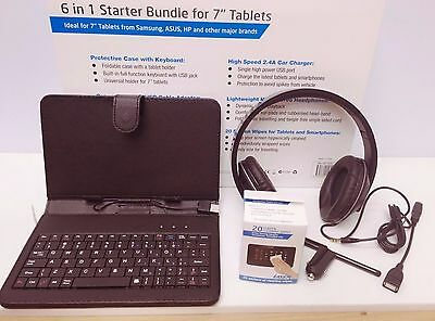 Laser 6 in 1 Starter Bundle for 7 Inch Tablet For Samsung, ASUS, HP & others