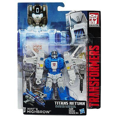 Xort & Highbrow Titans Return Deluxe Class Transformers Generations  Figure