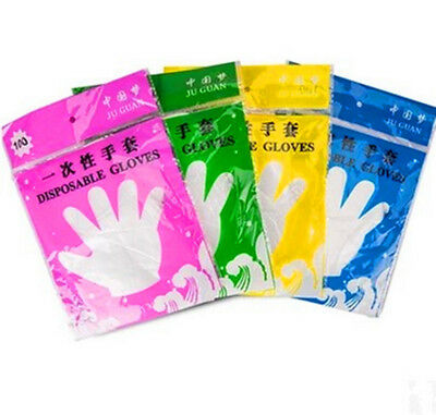 100 Pcs Disposable Gloves Thicker Food Film Dining PVC Gloves Home Using Gloves