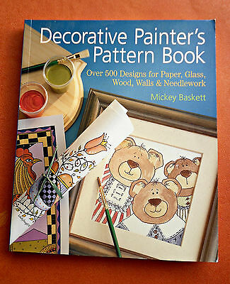 DECORATIVE  PAINTER'S  PATTERN  BOOK ~ 256 Page SC Book in GC ~ FOLK ART