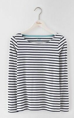 Ladies Boden Classic Breton BNWT White And Navy Size 18 RRP £28