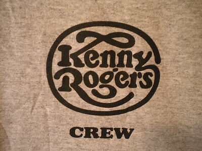 KENNY ROGERS CIRCA 2010's TOUR LOCAL CREW T-SHIRT XL Gray w/ Black Image
