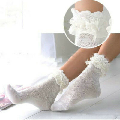 1 pair Fashion Ladies Retro Lace Ruffle Frilly Ankle Sock Women Cotton Socks