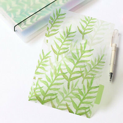 6pcs/pack  Finely PP Divider Index Paper Notebook Agenda Planner Separator Page